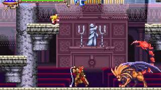 Castlevania aria of sorrow Boss:Mantichora (Julius mode)