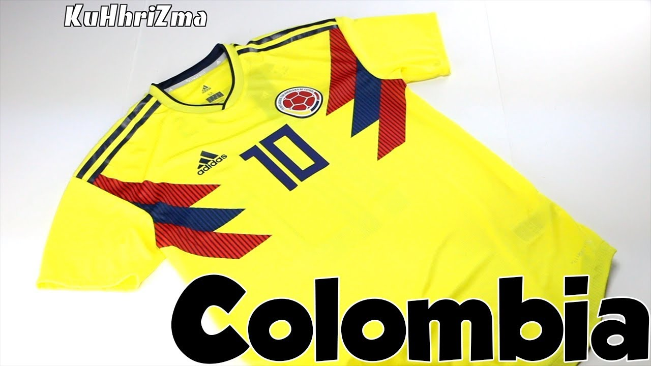 buy online 97895 60eca World Cup 2018 Adidas Home Colombia James Jersey Unboxing + Review