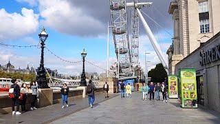 Walking London's South Bank Riverside along the Thames | London Walk 4K