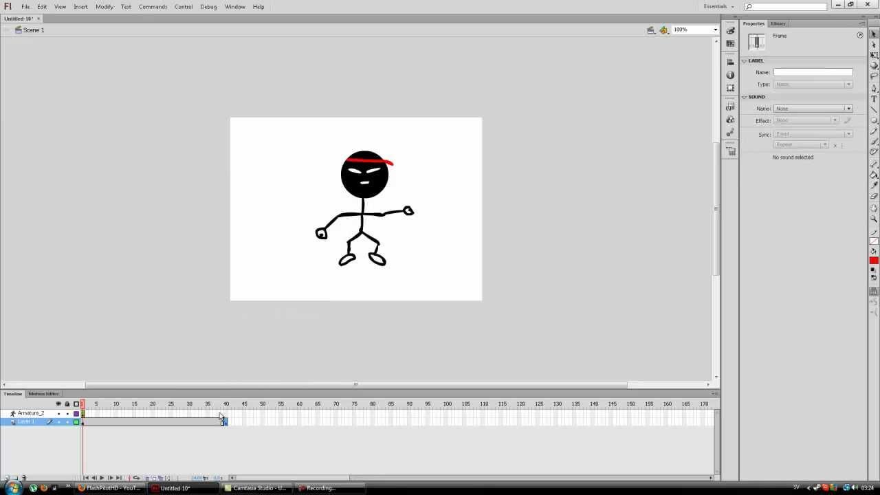 Adobe flash bone tool basics character animation part 1 | learn.