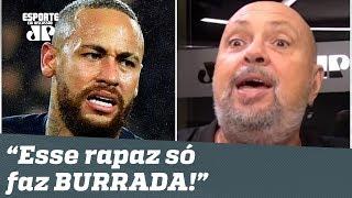 """O Neymar CAVOU a expulsão! Dá pra vir pro CARNAVAL, hein?"", detona narrador"