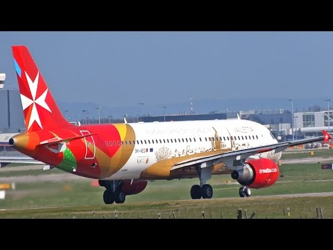 Air Malta 'Valletta Livery' Airbus A320 Take Off at London Gatwick Airport [with ATC]