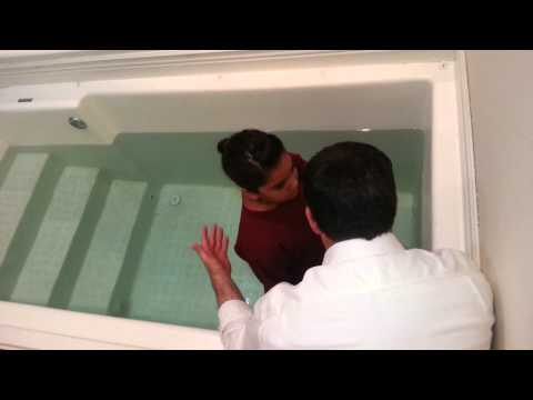 Alyssa being Baptised in Jesus name