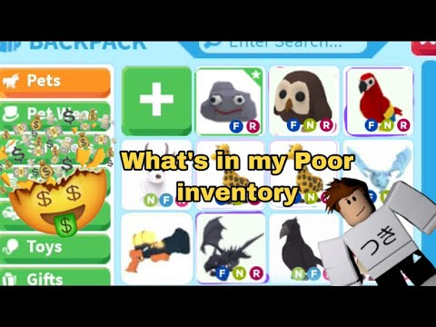 What S In My Poor Inventory Roblox Adopt Me Youtube