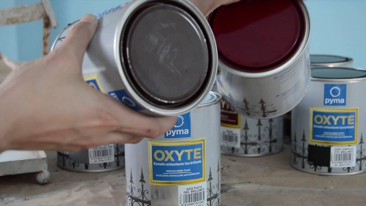 C mo pintar sobre metal youtube - Como pintar puertas de sapeli ...
