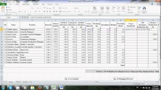 How To Make Salary Sheet Using Microsoft Excel