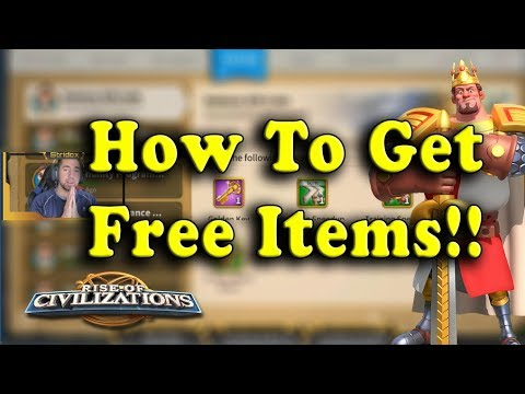 How to get FREE ITEMS EVERYDAY!! - Rise of Civilizations