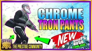 GTA 5 Clothes Glitch 1.42 *NEW* ''MODDED CHROME TRON PANTS GLITCH 1.42'' GTA 5 Outfit Glitches 1.42