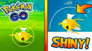 FIRST EVER WILD SHINY MAGIKARP CAUGHT! HUNTING FOR SHINY POKEMON IN NEW ADVENTURE! - POKEMON GO