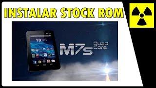 Como INSTALAR a ROM original de fábrica STOCK ROM & RESETAR || M7s QUAD CORE Multilaser