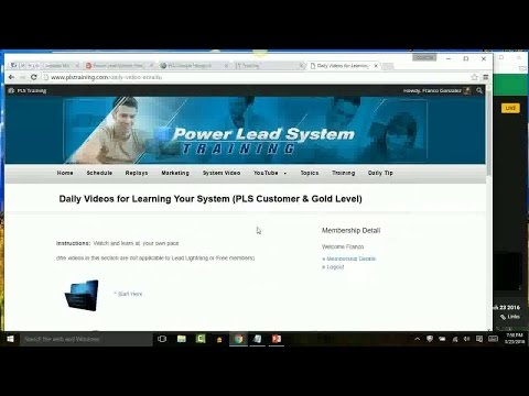 Power Lead System | Training March 23 2016