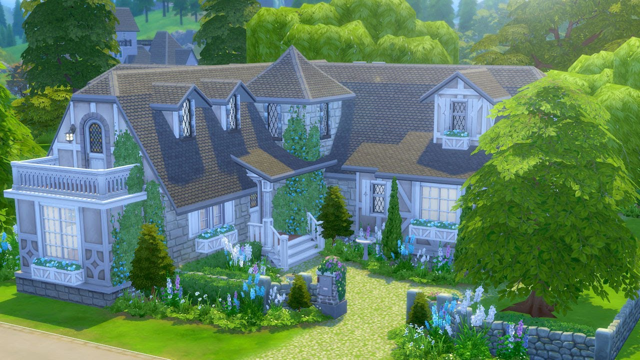 Building An English Cottage In The Sims 4 Streamed 5 7 19 Youtube