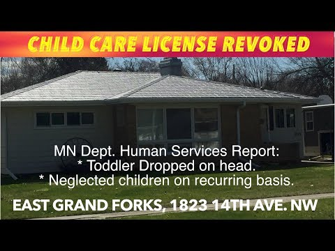 License Of East Grand Forks Day Care Revoked, Claims Of Neglect