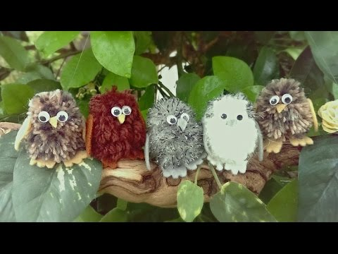 Diy:Super cute and easy baby owl