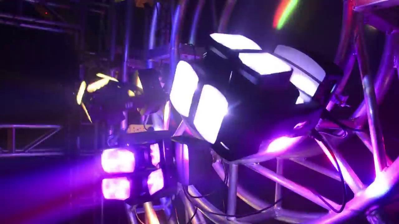 80W 4in1 Double Wheel LED Moving Head Light Full-Color DMX512