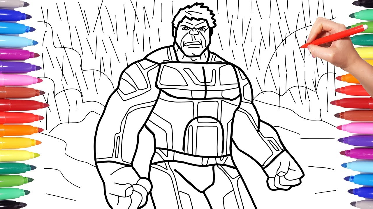 Avengers Endgame Hulk Suit Avengers 4 Endgame Coloring Pages How