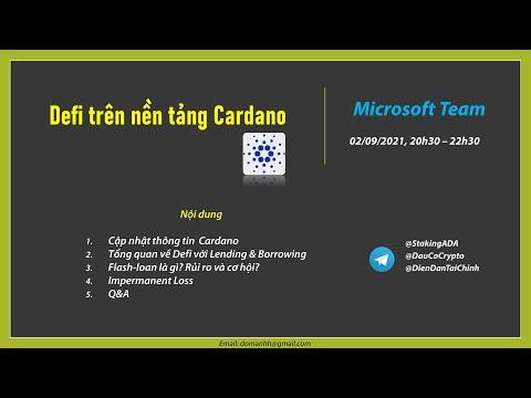 Defi trên nền tảng Cardano (CoreTeam1) - Lần 2