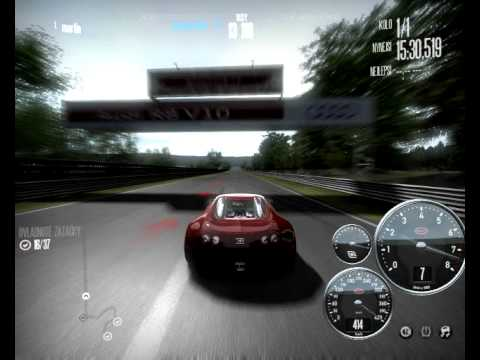 need for speed shift bugatti veyron top speed 430 km/h  with load/save position