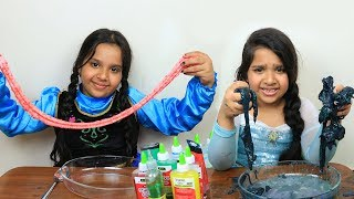 السا ضد انا تحدي السلايم !!!  Elsa vs Anna Making Slime Competition