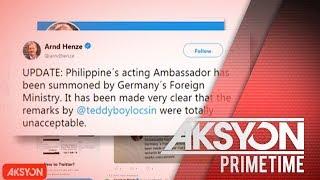 Gobyerno ng Germany, ipinatawag ang ambassador ng Pilipinas sa bansa