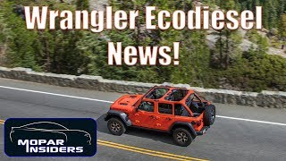 2020 Wrangler EcoDiesel Estimated Fuel Economy and Production Start!
