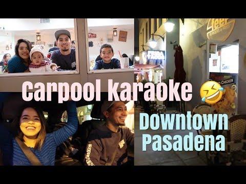 Carpool Karaoke | Let's Go To Downtown Pasadena | Linis Ng Car |Vlog #146