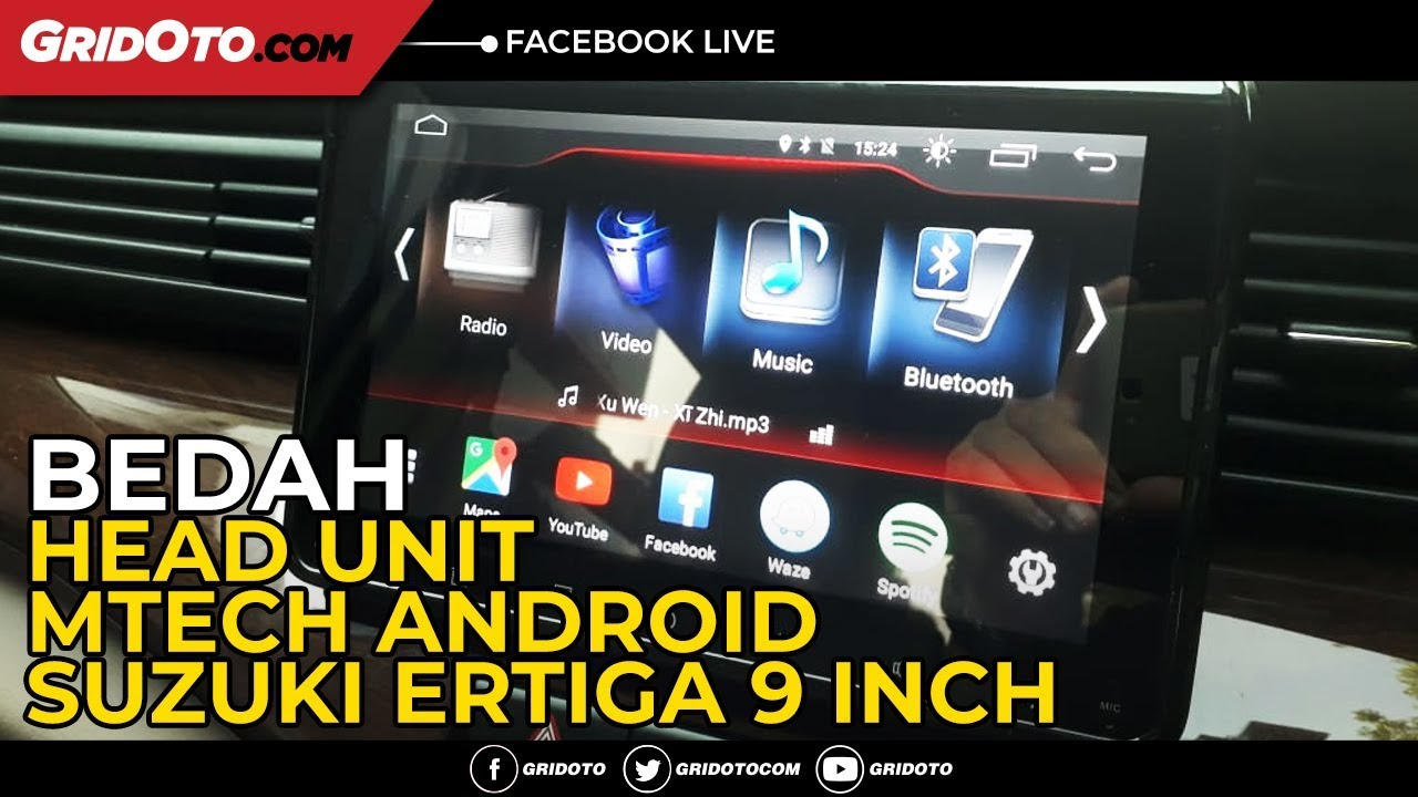 Bedah Head Unit Mtech Android Suzuki Ertiga 9 inch