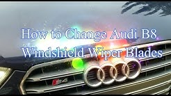 How to Change Wiper Blades for B8 Audi A4 and S4s
