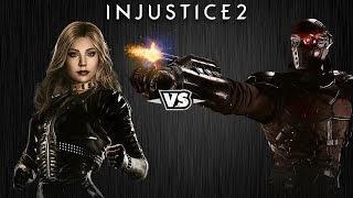 Injustice 2 - Чёрная Канарейка против Дэдшота - Intros & Clashes (rus)