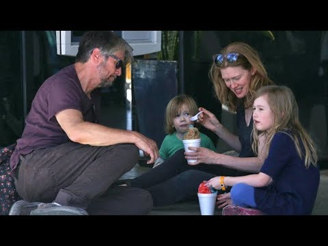 Alan Ruck And Mireille Enos Treat Their Kids To Something Sweet At The Farmers Market