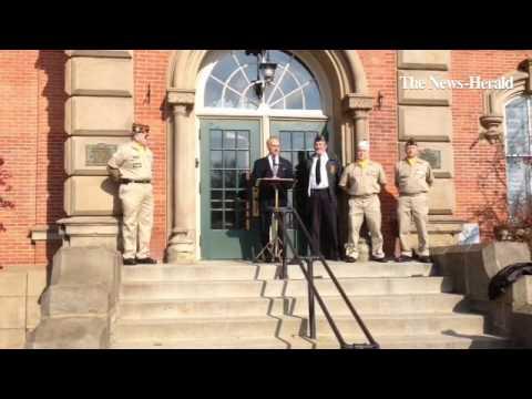VIDEO: Veterans Day services in Chardon with Rocky Bleier, Vietnam veteran & former Pittsburgh Steel