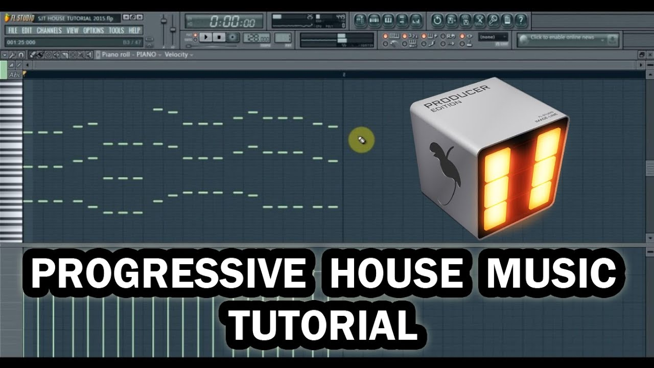 How to make progressive house music in 5 minutes fl for House music maker