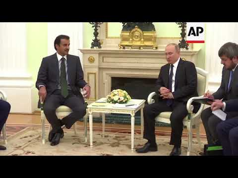 Putin meets Emir of Qatar in Moscow