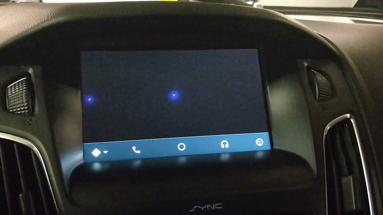 Black screen with Waze on Android Auto