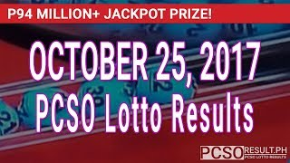 PCSO Lotto Results Today October 25, 2017 (6/55, 6/45, 4D, Swertres & EZ2)