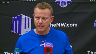 Coach Harsin explains why Jaylon Henderson is now the No. 1 QB on the Broncos' depth chart