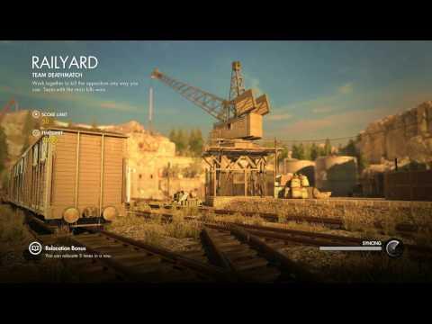 Sniper Elite 4 MULTIPLAYER Railyard Team Deathmatch - SICKdistic Gameplay