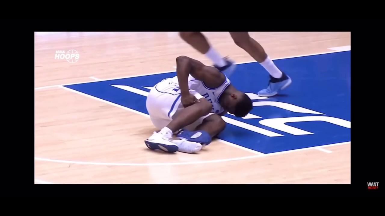f102b4b32d2 Zion Williamson injury Nike shoe blowout - YouTube