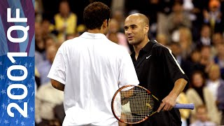Is this the greatest US Open match ever?   Pete Sampras vs Andre Agassi   US Open 2001 Quarterfinal