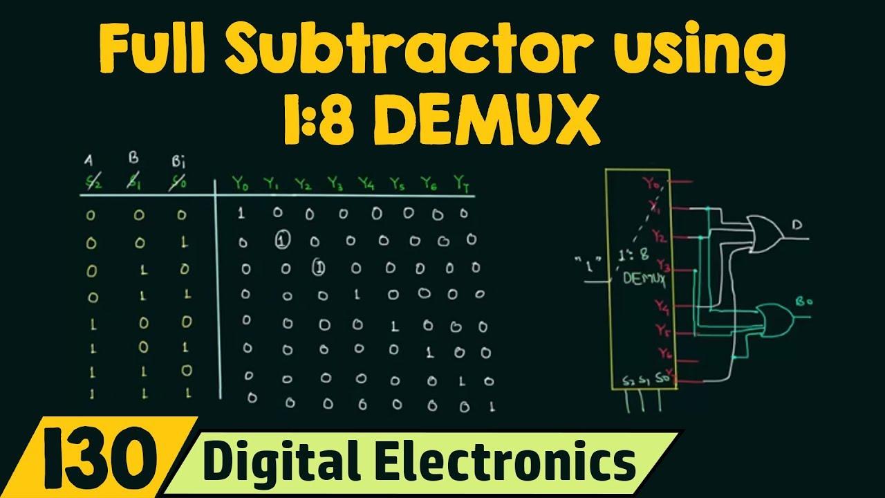 Full Subtractor using 18 Demultiplexer - YouTube