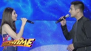 "Piolo, Sarah sing ""With A Smile"" on It"