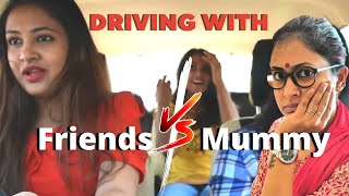 Driving with : Friends Vs Parents | driving with friends vs Driving with parents | Captain Nick