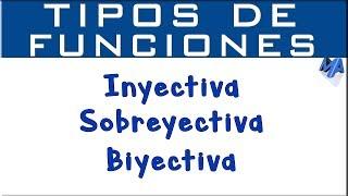 funciones Inyectivas Sobreyectivas y Biyectivas