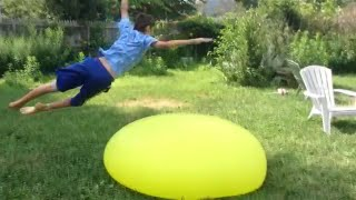 Filling A 6 Foot water Balloon To Its Max (Awesome Pop)