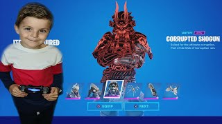 TRUMAnn Gives His 7 Year Old Kid NEW CORRUPTED Bundle & His Mum Plays New Marvel Fortnite Game Mode!