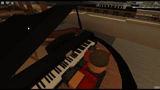 Sober Up - The Click by: AJR Featuring Rivers Cuomo su un pianoforte ROBLOX.