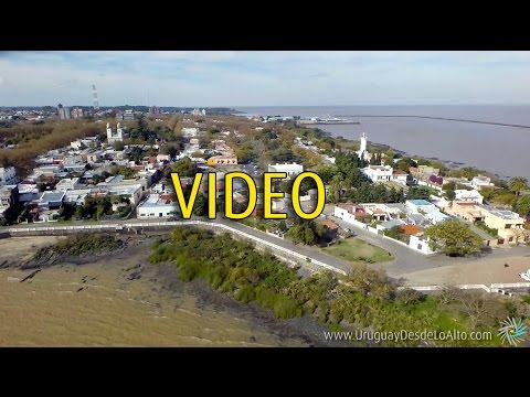 Video aéreo de Colonia del Sacramento, Uruguay Desde Lo Alto