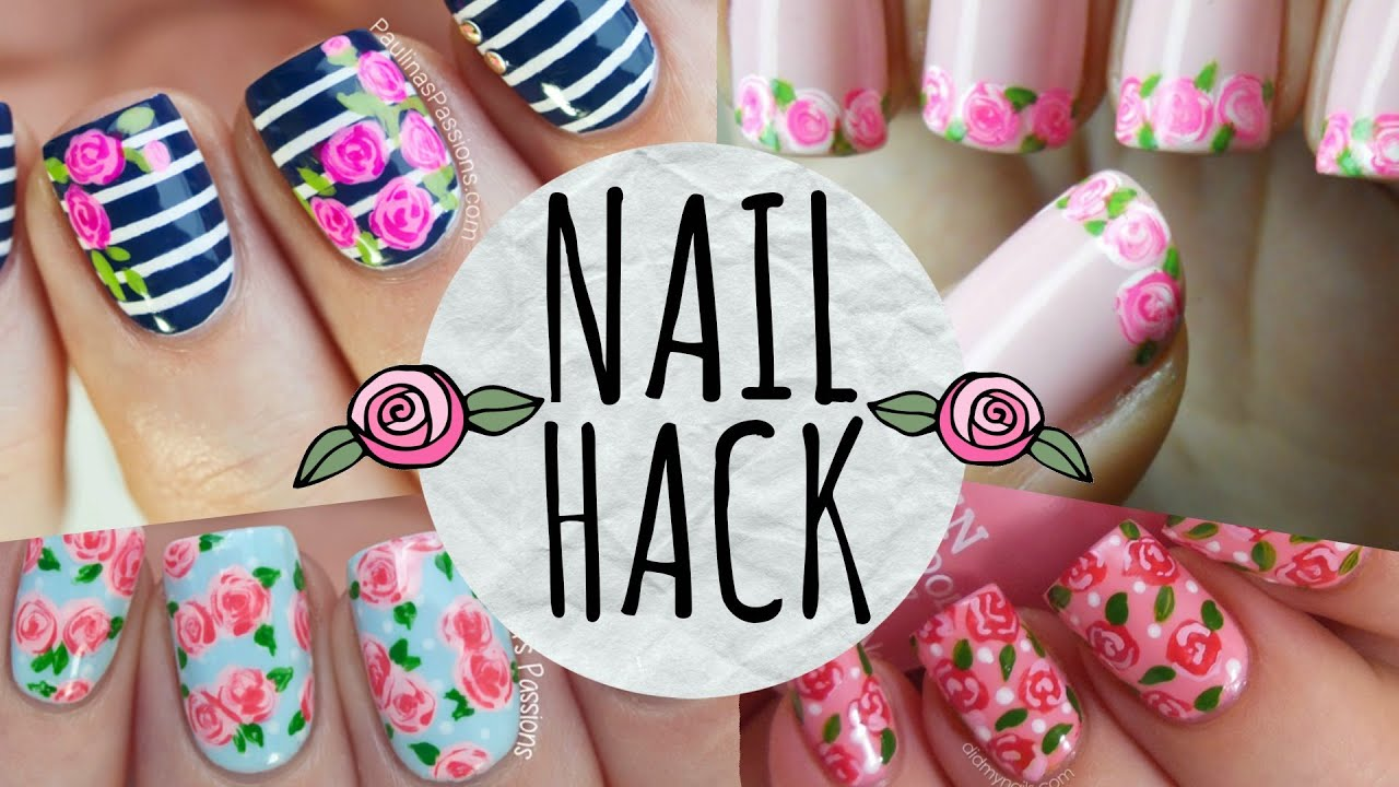 Nail hack cheat your way to perfect roses youtube prinsesfo Images