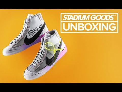 Quagga Suave Esquivo  Serena Williams Off-White Nike Blazer | Stadium Goods Unboxing + Review -  YouTube
