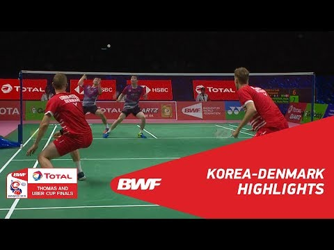TOTAL BWF Thomas & Uber Cup Finals 2018 | Korea vs Denmark QF | Highlights | BWF 2018